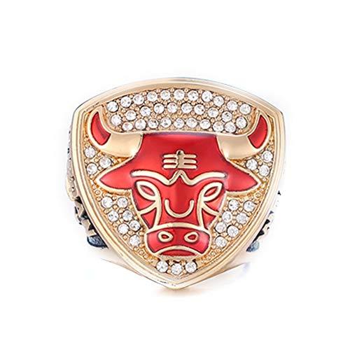 Fei Fei NBA 1993 Michael Jordan Chicago Bulls Championship Ring Anillos de Hombre, Championship Anillo de réplica Personalizado Anillos de Diamantes para Hombres