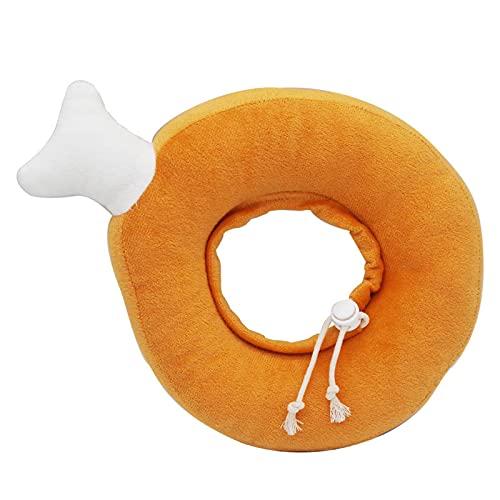 XDFCVLL Collares inflables para perros después de la cirugía 30 circunferencia del cuello dentro de aguacate ajustable en forma de pan de algodón ajustable cuello de perro cono naranja