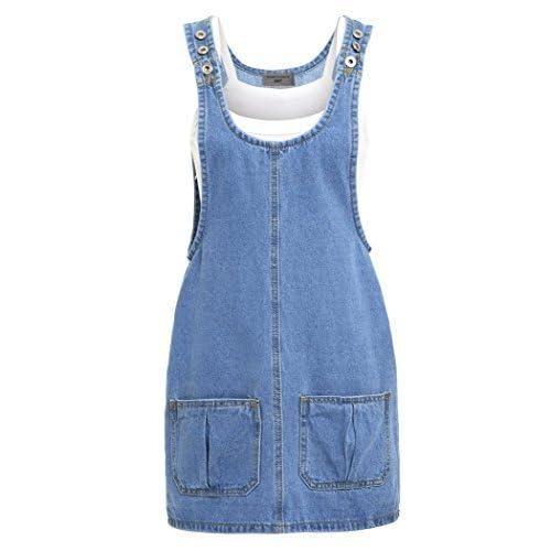 63144c20efb SS7 New Women s Denim Pinafore Dress
