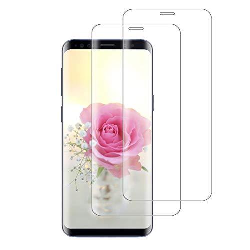 XSWO 2 Unidades Cristal Templado Compatible con Samsung Galaxy S8 Plus, [3D Cobertura Completa] [9H Dureza] [Sin Burbujas] [Fácil Instalar] Vidrio Templado, Protector de Pantalla Galaxy S8 Plus