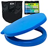 Portable Toilet Bucket Toilet Seat Set for Camping Boating Outdoor - Potty Waste Bags and Case - 5 Gallon Buckets