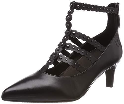 Gerry Weber Shoes Damen Palma 01 T-Spangen Pumps, Schwarz (Schwarz 100), 38 EU