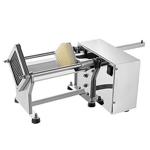 Máquina cortadora de patatas fritas eléctrica de 60 vatios, cortadora automática de...