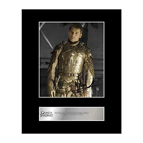 Nikolaj coster-waldau Signiert Foto Display Jaime Lannister–Game Of Thrones