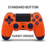 Bluetooth Wireless Joystick for PS4 Gamepads Controller Fit Console for Playstation4 Gamepad Dualshock 4 Gamepad for PS3-type2 Sunset Orange-