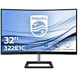 "Philips 322E1C Gaming Monitor Curvo da 32"", FHD LED VA Adaptive Sync 75 Hz, HDMI, Display Port, VGA, Flicker Free, Low Blue, Nero"