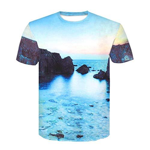 CAOQAO Camiseta Hombre Fashion 2019 Moda Hombre impresión de...