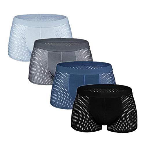Ropa interior masculina 4pcs Malla Boxer Ropa Interior Ice C