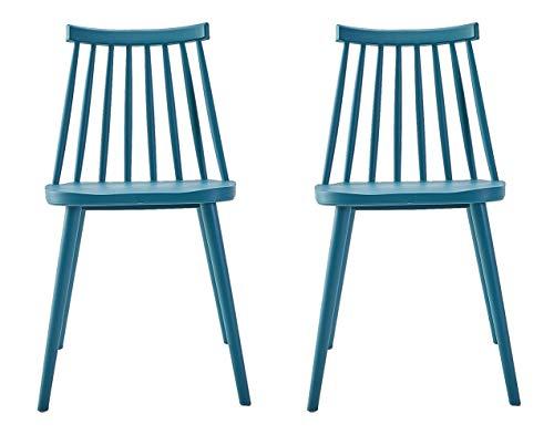 Silla Windsor de diseño moderno, silla de comedor con respaldo de estilo mandril, silla de plástic