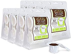 Perfect Pod EZ-Cup Paper Coffee Filters with Patented Lid for Single-Serve Coffee Brewers and Coffee Pods, Compatible with Keurig, 8-Pack (400 Filters)