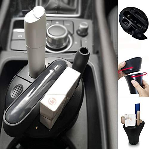 BECROWMEU Cup Charger für iqos, elektronische Zigarette iqos 3.0 & Multi 3.0 Ladegerät und Netzteil für Pocket Charger mit Aschenbecher, Auto Becherhalter schwarz