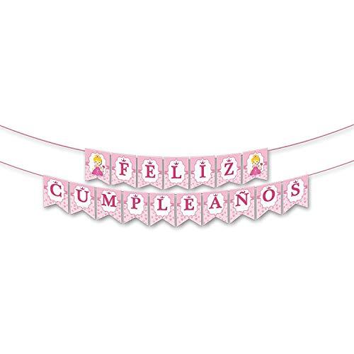 Guirnalda Personalizada Con Nombre - Feliz Cumpleaños Rosa