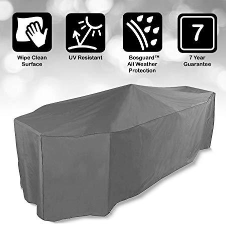 Bosmere NP030 Protector 7000 6 Seat Rectangular Patio Set Cover, Thunder Grey