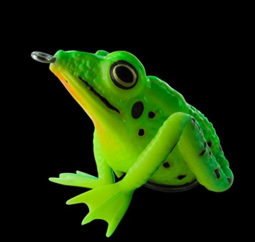 Topwater Frosch neon grün Krauthaken Realistic Frog