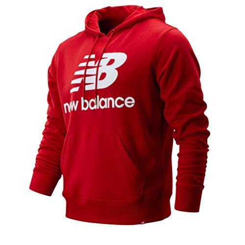 New Balance Men's Essentials Stacked Logo Pullover Hoodie Sweatshirt