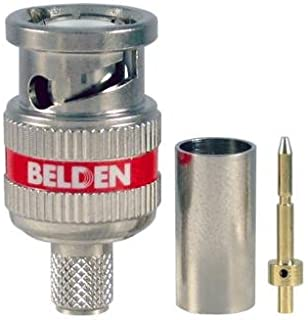 Belden Brilliance&Reg High-Definition 3-Piece Bnc Compression Connector Rg59 with Headphones