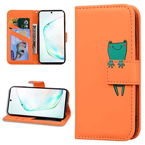Miagon Tier Flip Hülle für iPhone 6S / 6,Brieftasche PU Leder TPU Cover Design mit Ständer Kartenfächer Magnetverschluss Handytasche Wallet Case Cover,Orange