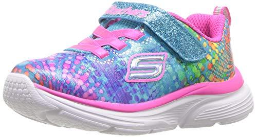 Skechers Kids Girls' Wavy Lites Sneaker, Multi, 9 Medium US Toddler