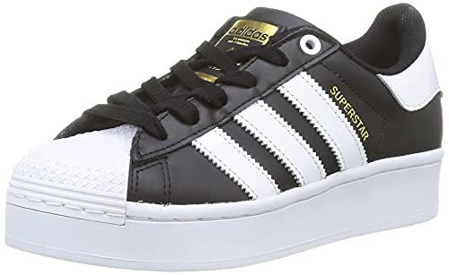 adidas Superstar Bold W, Zapatillas Deportivas Mujer, Core Black FTWR White Gold Met, 35.5 EU