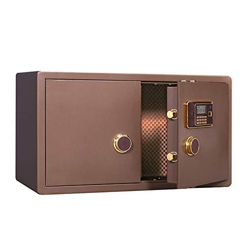 LERDBT Kabinett Safe Gold Shop Elektronischer 90cm breit Sicher Schmuck Sicher Stahl Kennwort Fingerabdruck-Safe Für ID-Papiere (Farbe : Braun, Größe : 90x50x40cm)