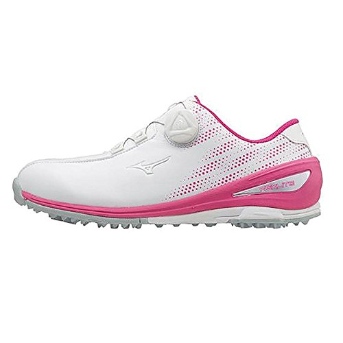 Mizuno 2018 NEXLITE 004 BOA Spikeless Wasserdichte Damen Golfschuh - White/Pink 4.5UK