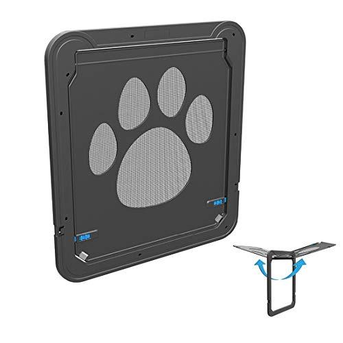LEIXIN Speelgoed voor huisdieren Pet-afdruk-patroon honden auto lock/afsluitbare deur kat kluis flap venster huisdierscherm deur/grootte: 42 x 37 cm