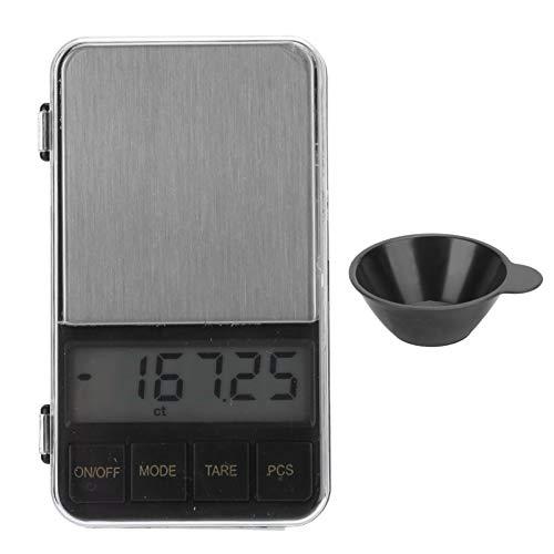 Báscula de bolsillo electrónica, portátil, de alta precisión, con diferentes pantallas de LCD [200 G/0,01 G]