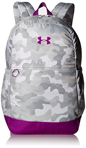 Under Armour Girls' Favorite Backpack, White (100)/Purple Rave, One Size Fits All