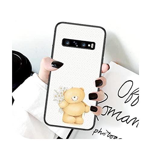 Funda para Samsung Galaxy Note S 8 9 10 20 Plus E Lite Uitra negro Shell Trend Bumper lujo Funda-13-Galaxy S10lite