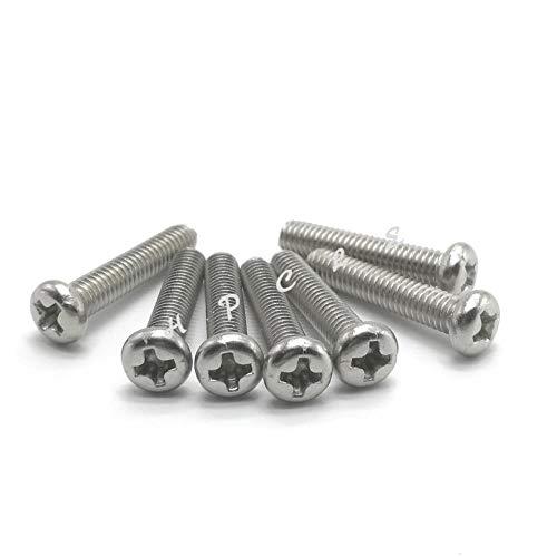 20-100 stks M1 M1.2 M1.4 M1.6 M2 M2.5 M3 M4 ISO7045 DIN7985 GB818 304 roestvrij staal kruiskopschroeven met verzonken kop, 6 mm, M2 50 stuks