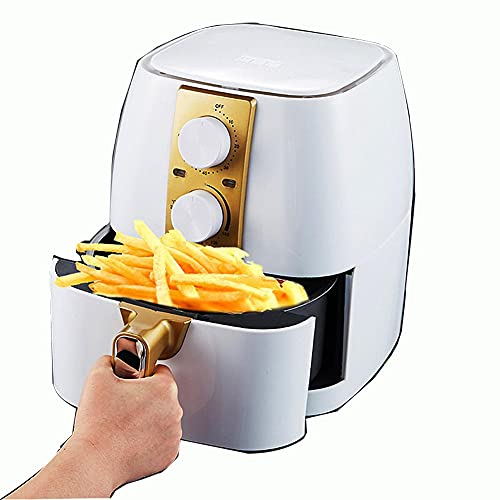 Air Fryer Oven 4.5 Quart, Airfryer, Air Frier Digital, Multifunction Cooking Machine, Adjustable Timer&Temp, No Oily Smoke Cooking, Auto Shut Off, Multifunction Cooking Machine,White