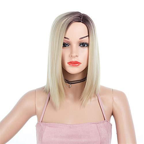 Femme Européens et américains perruque Chemical Fiber Hoods Femme Dyed côté court perruque de cheveux courts Coiffures Pour la danse de fête quotidien