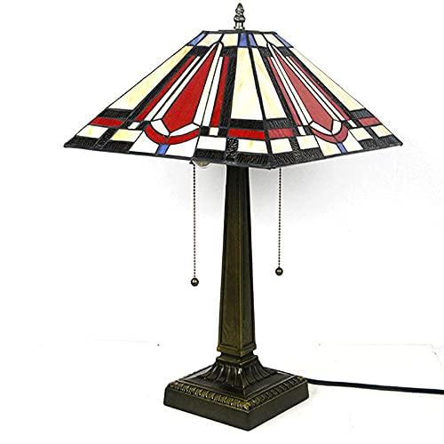 Lámpara de mesa antigua clásica Lámpara de banquero retro de doble cabeza con pantalla de cristal verde esmeralda y base de latón E27 Luz