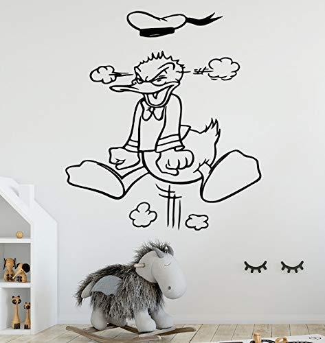 Donald Duck vinyl behang in Europese stijl rol meubels decoratieve kinderkamer natuur decor vinyl kunststicker 43 * 45 cm
