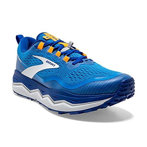Brooks Caldera 5, Zapatillas para Correr Hombre, Blue Indigo Orange, 40.5 EU