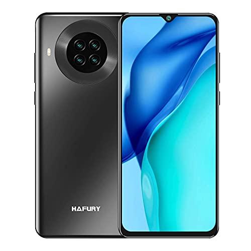 HAFURY K30 Pro Smartphone 8GB RAM 128GB ROM 6.5 Pollici HD Screen Cellulare Batteria 4200mAh Quad Fotocamera Android 10 Supporto FACE ID, NFC, GPS 4G Nero