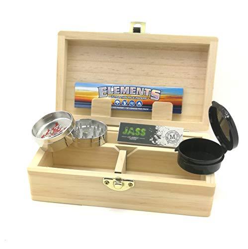 Caja de almacenamiento para fumadores Rolling Supreme M + accesorios (grinder, cuaderno de hojas Slim, tips, caja de conservación)