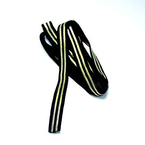 Piner 1cm Kleur elastiek elastiek rubber plat elastiek kleur elastiek broek fijne kleding accessoires broek taille broek, goud, 1M