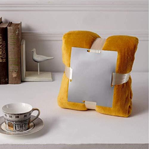 Fleece dekens met Pom Pom Tassel Gooi Flanel Super Soft Microfiber Fuzzy Deken voor All Season 130x160cm Geel,Yellow