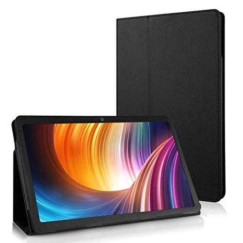 Funda de Cuero PU Soporte 10.1' Pulgadas para Tablet Dragon Touch Max10 con Android 9.0 Tablet Negro