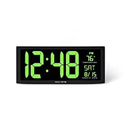 AcuRite 75155M 14.5 Large Green LED Digital Clock Inch