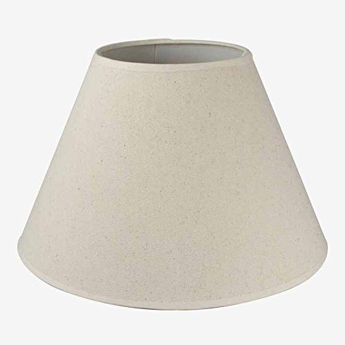 Better & Best 50 Crema Rotor Pantalla de lámpara de Lino, Redonda, de 50 cm, Color