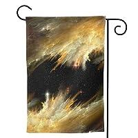 黄金の星雲 のぼり旗 ガーデンフラッグ 両面 防風 サイン 休日を祝う 美しい 庭の装飾 アンティークの冬 ガーデンバナー ファッション 屋外装飾 贈り物