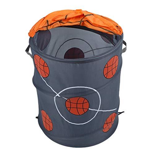 Canasta de lavandería plegable para modelado de baloncesto Barriles de almacenamiento Barril de almacenamiento Tienda de juguetes de tela de poliéster