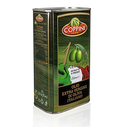Coppini Terni Olivenöl 1 Liter Kanister - 100{9598f93d6da1eaf8f044bdd70214176e69ac25ec104e50bbfdc6b7bb4257cdf3} italienisches natives Olivenöl extra - Mildes und fruchtiges Olive Oil aus Umbrien - Premium Olivenöl kaltgepresst