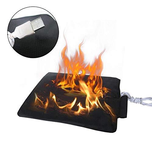 QueenHome USB 5V elektrische Heizkissen, Angeln Pad Kohlefaser Infrarot Heizung Wärmer Abdeckung elektrische Heizung Pad für kaltes Wetter, Büro, Haus, Auto, Outdoor