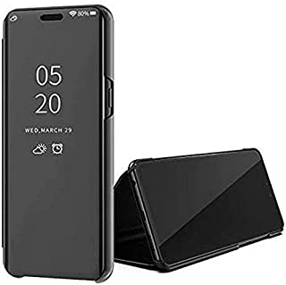 For Huawei Y7P 2020 Clear View Standing Cover With Out Sensor Not Smart -Black