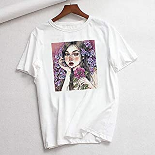 Blouses & Shirts - Loose Female Short Sleeve Tops Korean Vintage Summer Harajuku Tees Women Star Print Oversized Ulzzang M...