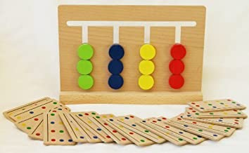 TOWO Wooden Colour Sorting Toy - Sorting Puzzle Game for Kids - Wooden Brain Teaser Toy for 3 Year Olds - Wooden Sorting Toy Educational Puzzles for Childrens Montessori Learning
