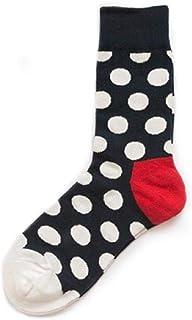 WZDSNDQDY Calcetines de algodón de Tubo para Hombre patrón de Puntos en Blanco y Negro Comodidad Transpirable Calcetines de Hip Hop para Skateboard Calcetines de Baloncesto Callejero